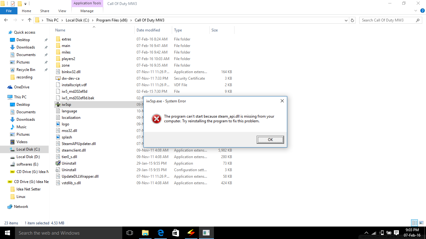 Tips And Tricks: Fix The program cant start because steam_api.dll is