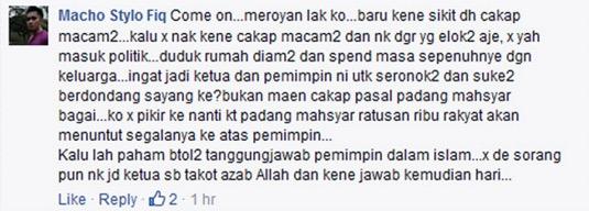 Jawapan netizen kepada anak bongsu Ahmad Bashah
