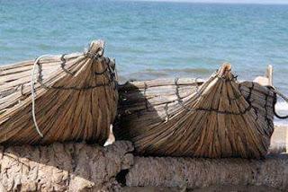 palm frond bundle boats, Oman