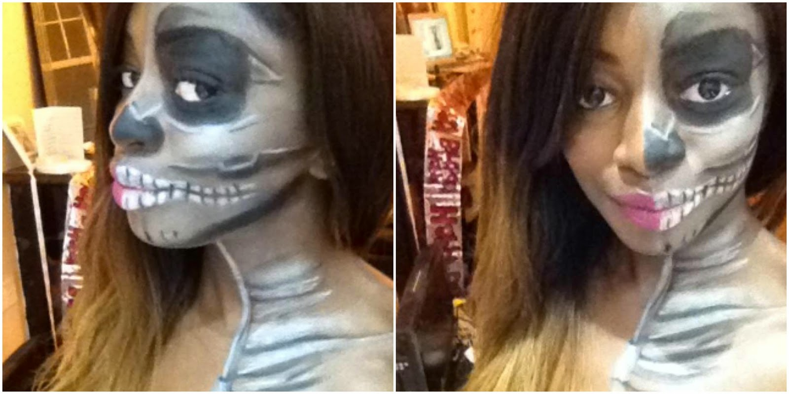 Skeleton Halloween make up