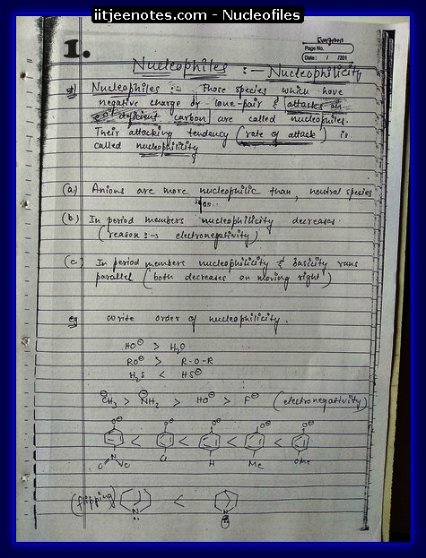 Nucleofiles Notes1