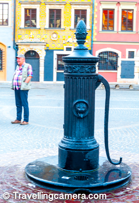While walking around the Old Town of Warsaw, you also come across various artifact with great historical significance. Above photograph shows old hand-pump in middle of Market Square of Old Town, which is one of the important places in Warsaw to visit and explore.