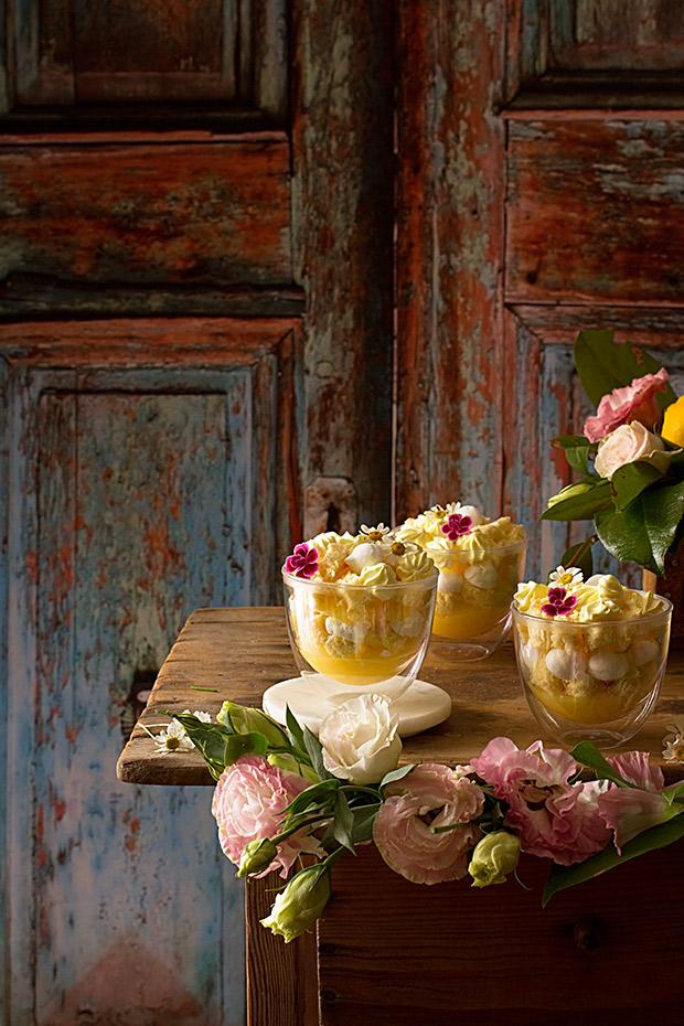 Tarta de limón en vasitos de Webos Fritos