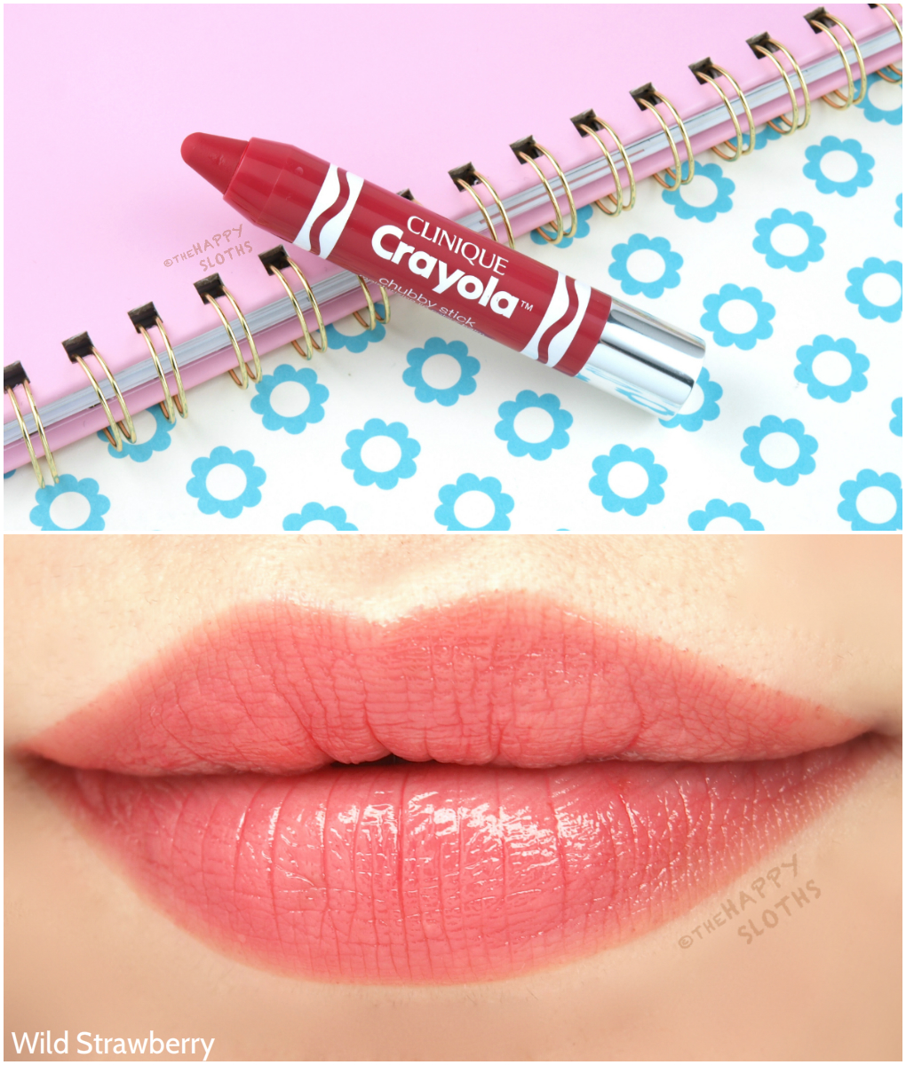 Clinique Crayola Chubby Stick Wild Strawberry: Review and Swatches