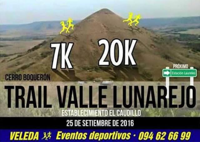 20k y 7k Trail Valle Lunarejo (Cerro Boquerón, Rivera, 25/sep/2016)