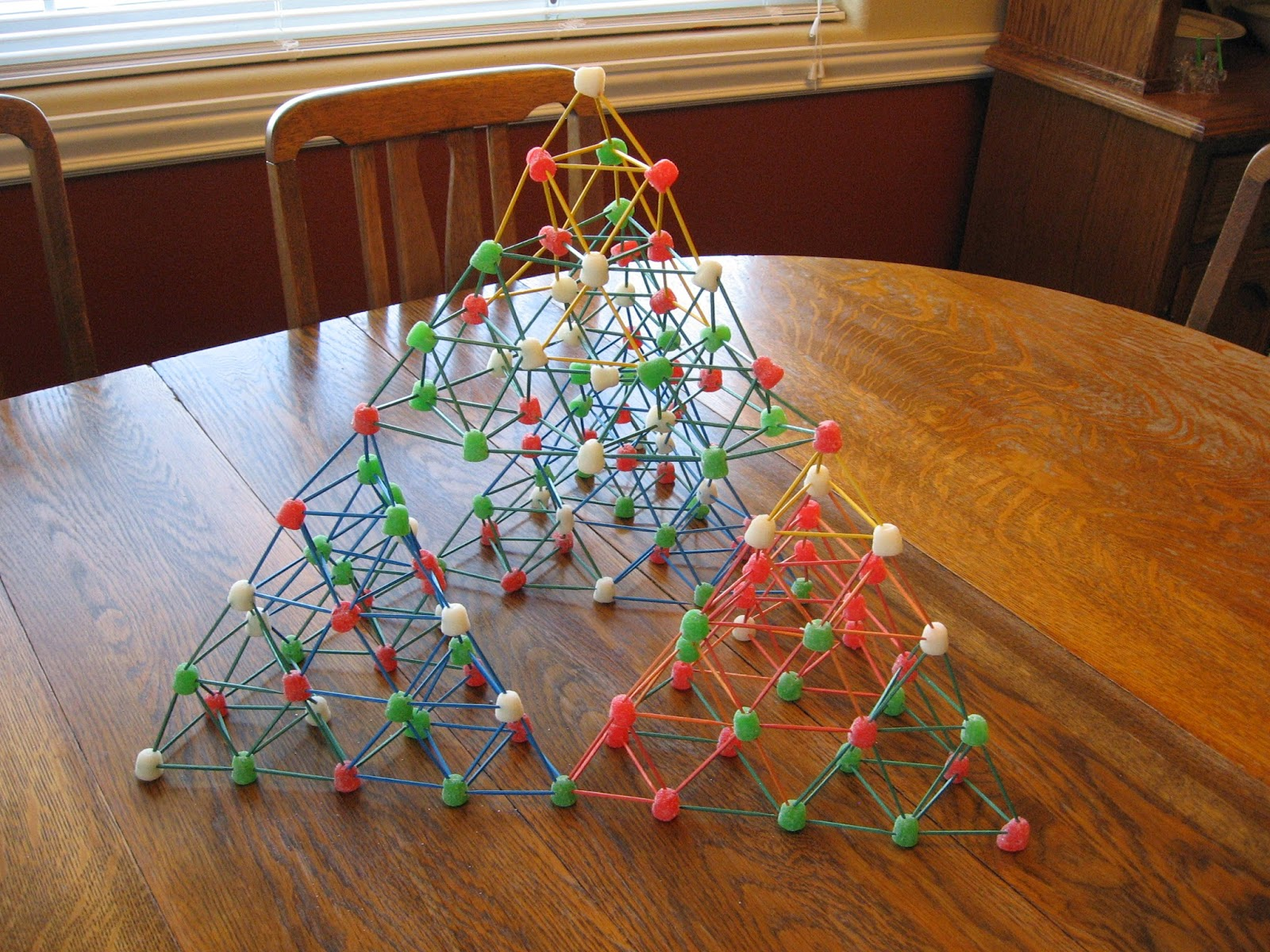 Almost Unschoolers Gumdrop And Toothpick Sierpinski Christmas Trees