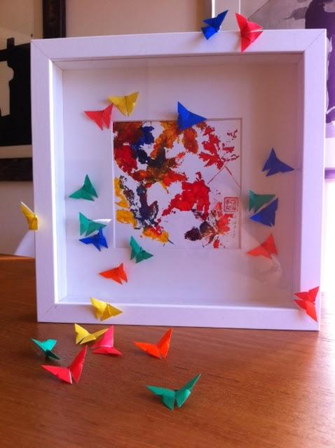 Mariposas de Origami cuadros de hojas y mariposas Origami