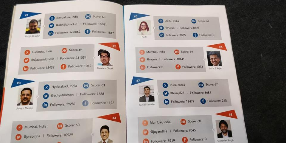 Listed As No. 2 #socialmedia Influencer In India By @shrmindia At #shrmtech18