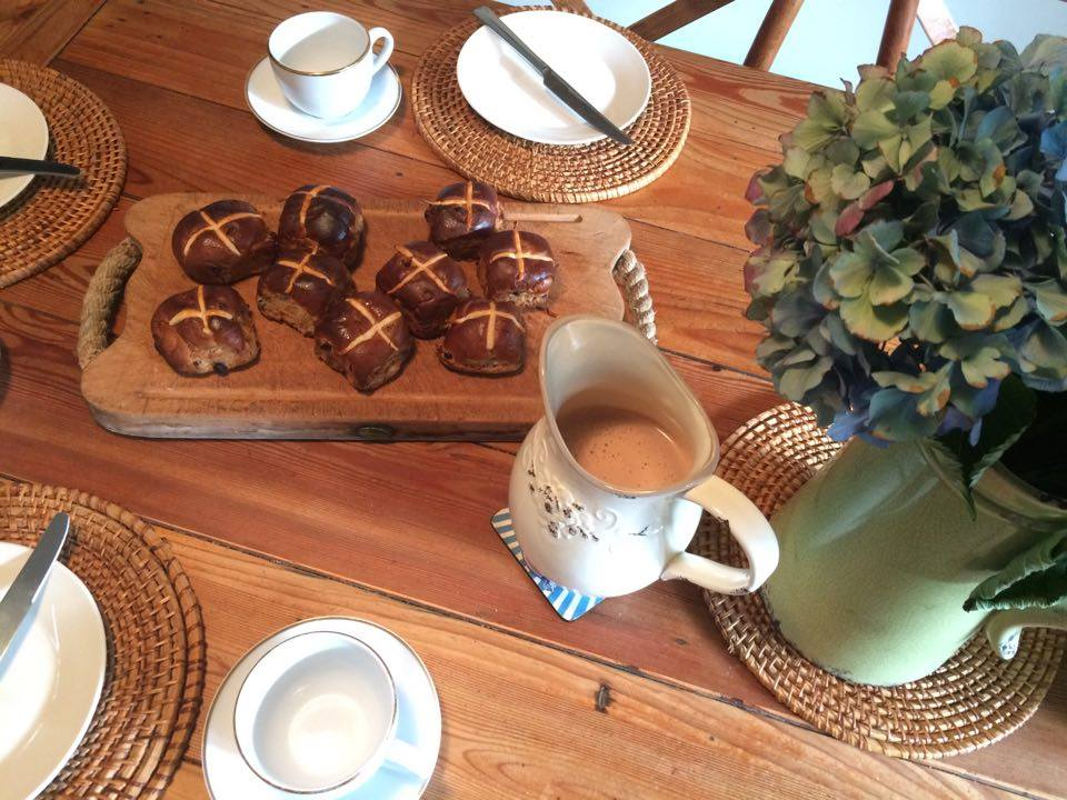 """Breakfast this morning was hot chocolate, hot cross buns and """"what was happening right now two thousand years ago?"""""""