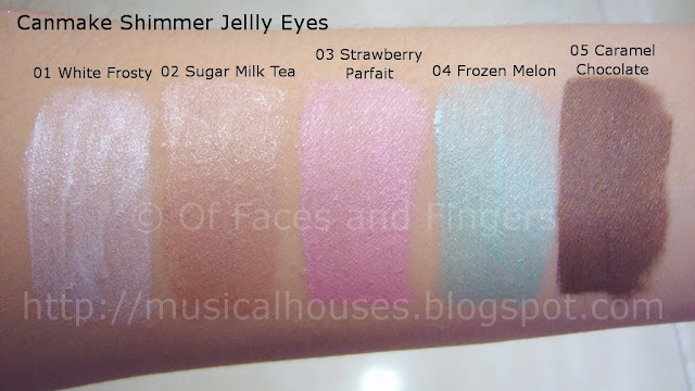 Canmake Shimmer Jelly Eyes Cream Eyeshadow Swatches