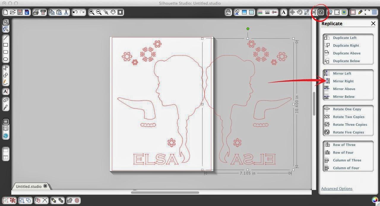 Heat transfer vinyl, HTV, tips, beginners, Silhouette tutorial, Silhouette Studio, replicate window
