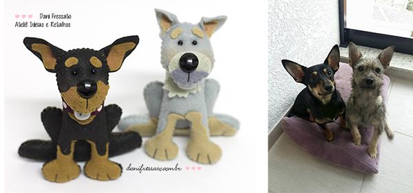 Cachorros de Feltro Personalizados