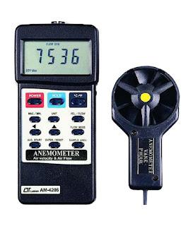 Jual Anemometer, Air Flow Meter, Air Velocity Meter Lutron AM-4206