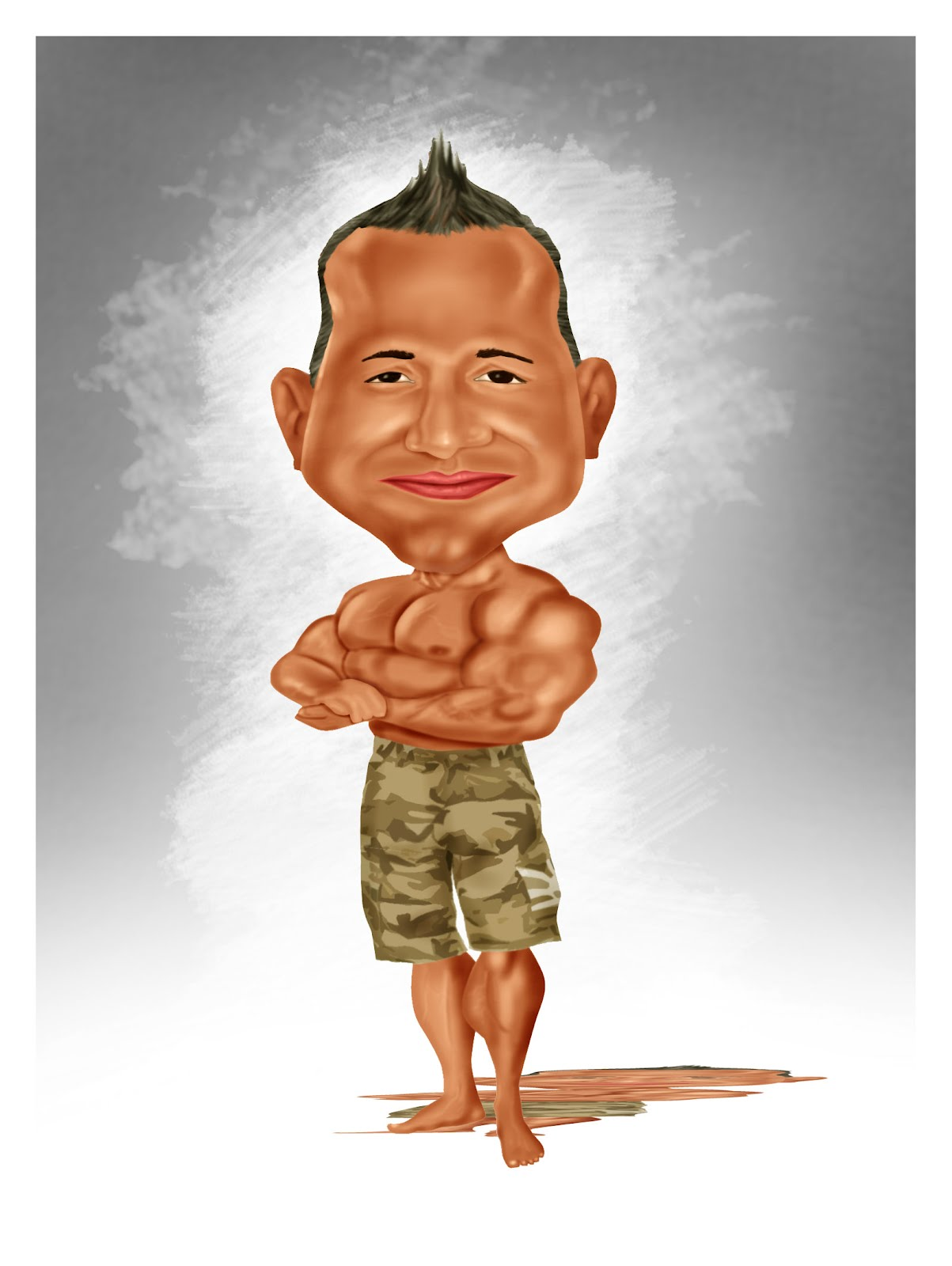 Caricaturecartoon body builder cartoon caricature - Cartoon body builder ...