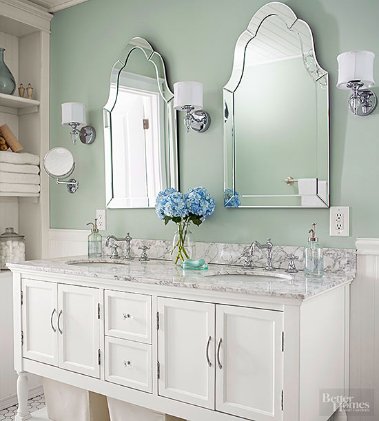 Dos lavabos Un baño clásico CocoChic&Deco