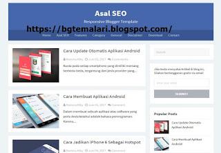 Asal SEO Blogger Teması