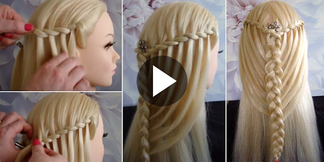 How To Create Feather Waterfall Twists Into Mermaid Braid Hairstyle