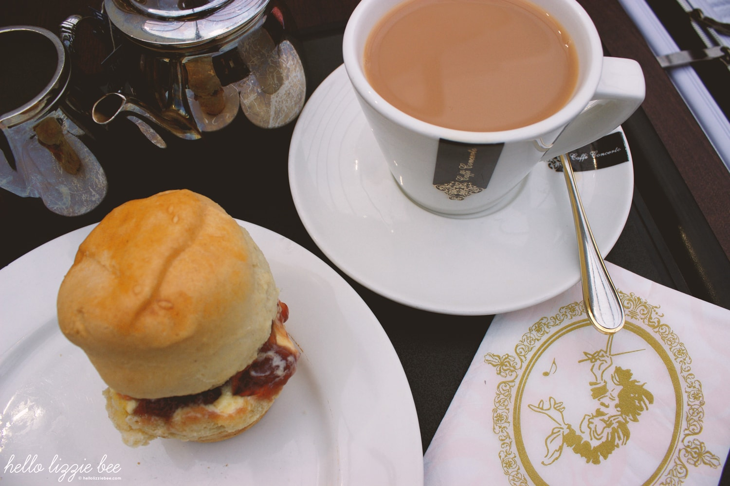 afternoon tea at Caffe Concerto