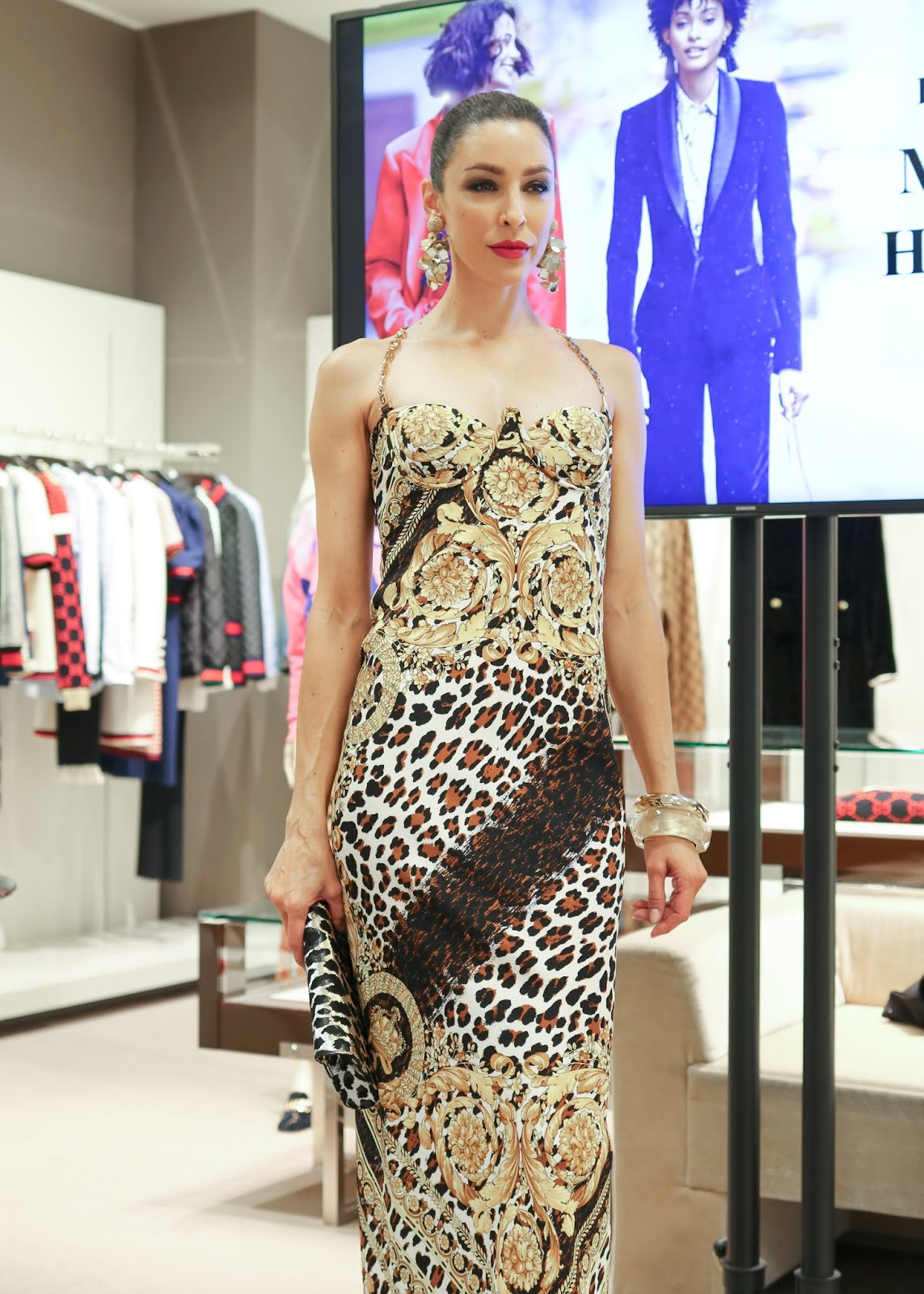 Versace Dress for fall 2018, Neiman Marcus Luncheon 2018