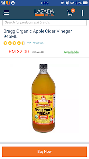 Bragg Apple Cider Vinegar di Lazada