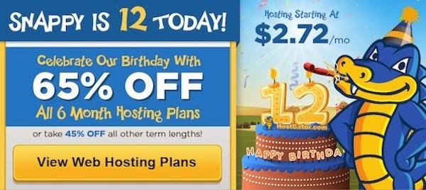 hostgator offering flat 65% off on all hosting plans
