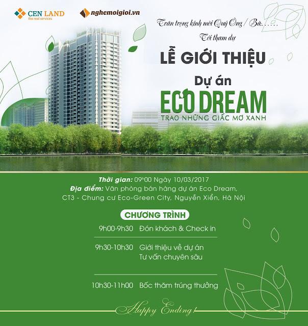 Thư mời mở bán dự án Eco Dream