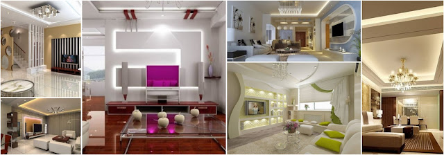 Amazing Gypsum Decorations For Living Rooms