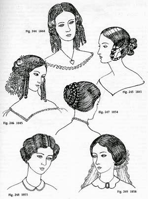 Tremendous Gothic Horror Early Victorian Hairstyles 183039S 186039S Short Hairstyles For Black Women Fulllsitofus