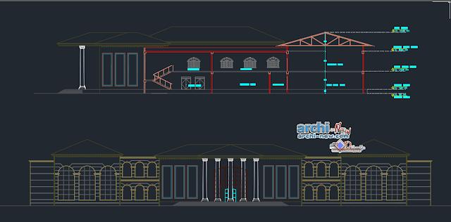 Library with multifuncional multifunctional Dwg