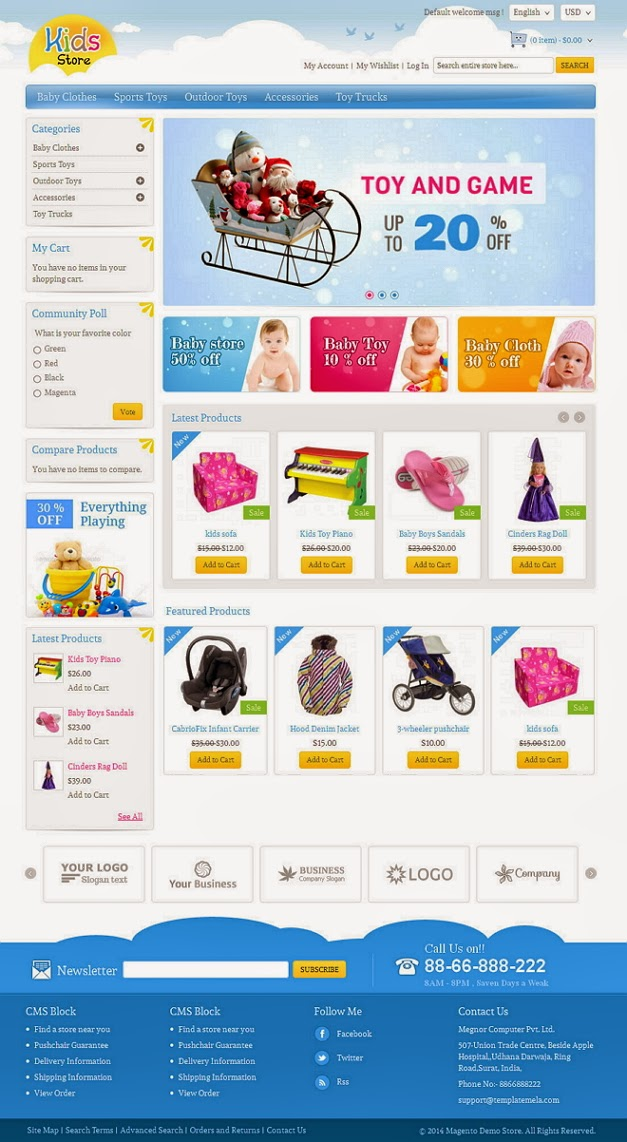 Children responsive website template