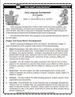 early language development handouts pdf