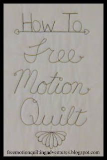 How to free motion quilt series.