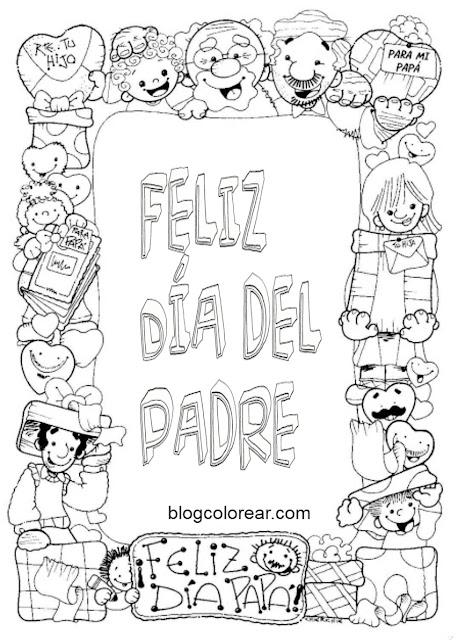 Dibujos para colorear regalo del dia del padre