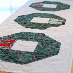 Fluffy puppy quilt works easy french braid table runner for 12 foot table runner