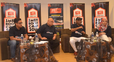 Source: 1MET. From left: Zahrain, Aminuddin, and Tan Sri Irwan.