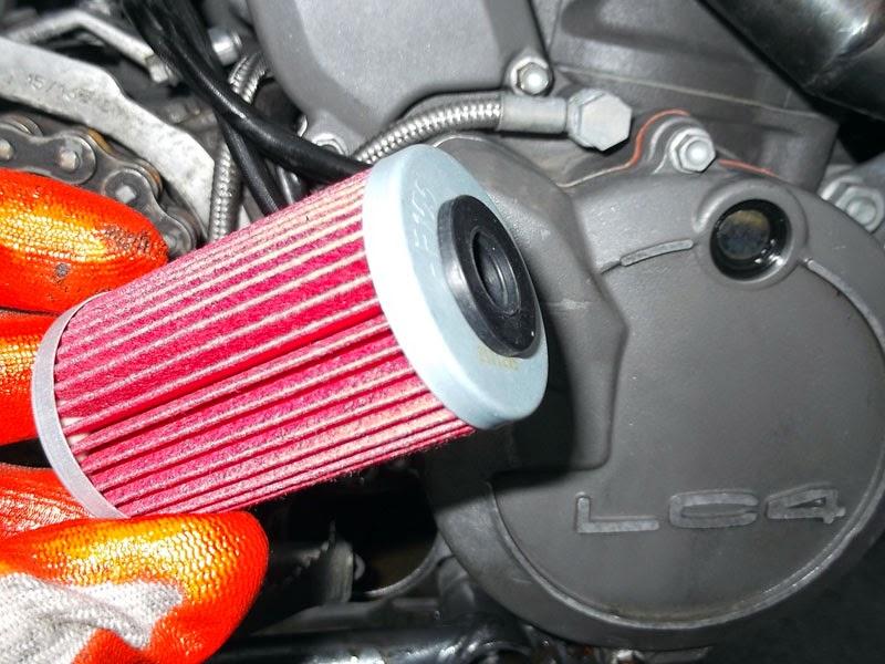 Cambio aceite y filtros KTM LC4
