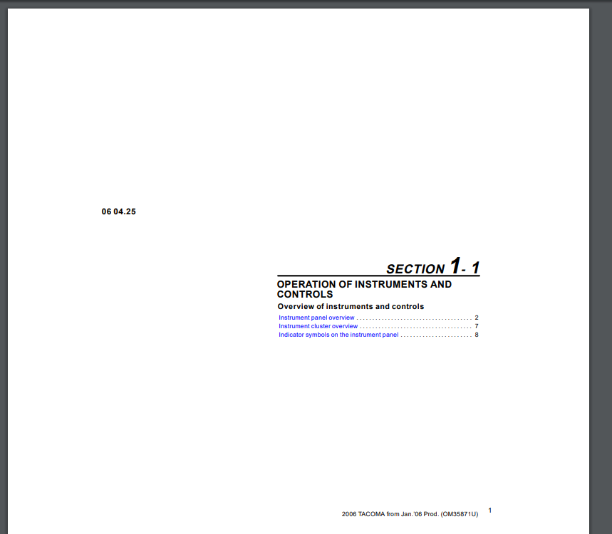 Download Toyota 2006 Tacoma Service Manual ~ Automotive