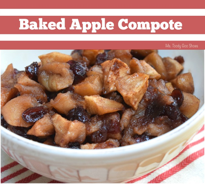 Ms Toody Goo Shoes: Baked Apple Compote - Delicious over pancakes, vanilla ice cream or mixed into oatmeal.