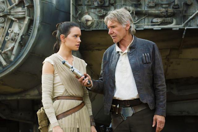 Star Wars The Force Awakens: Rey şi Han Solo