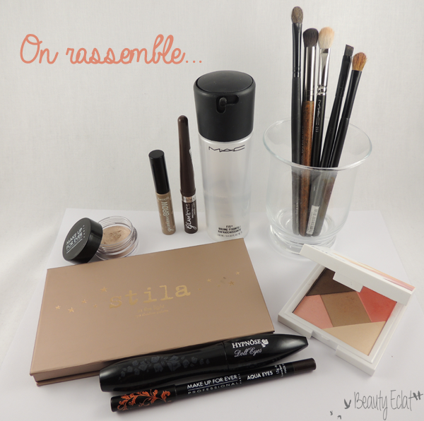 tutoriel maquillage corail chocolat