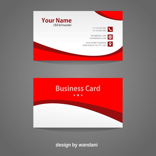 Kartu Nama, Busines Card, Red, Desain Grafis, Graphic Design, Desain Keren, Free Vectors, CDR, PDF, Download