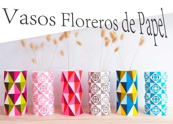 Vasos-Jarrones vanguardistas de papel para flores
