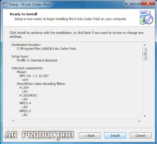 Tahap 8 Instalasi K-Lite Codec Pack Beserta Gambar
