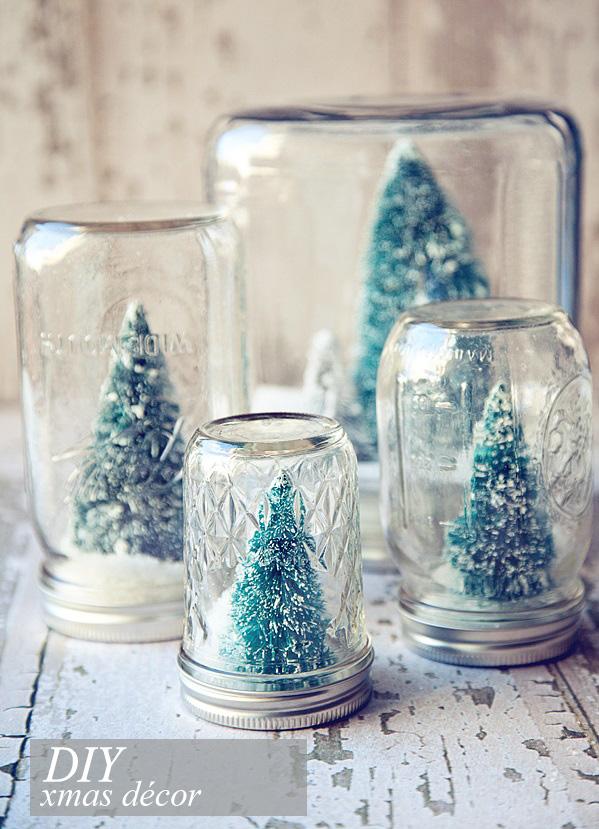 Barattoli di vetro decorati per natale blog di - Decorazioni natalizie in vetro ...