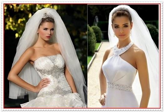 Frisuren für Brautschleier 2014
