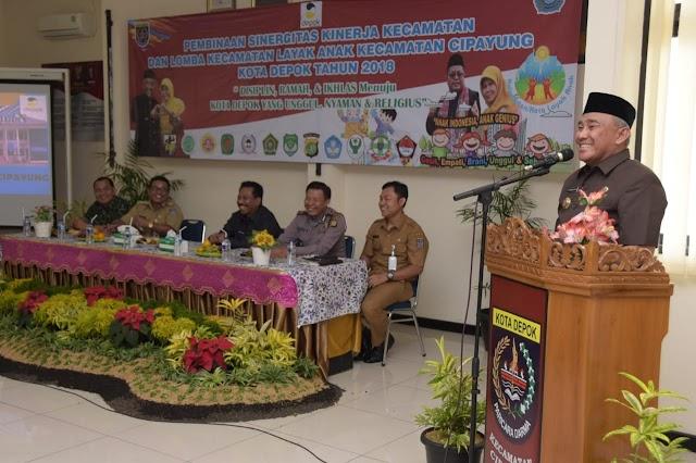Walikota Paparkan 3 Komponen Penyelenggaraan Pemerintahan di Kecamatan Cipayung