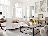 White Color Living Room Design
