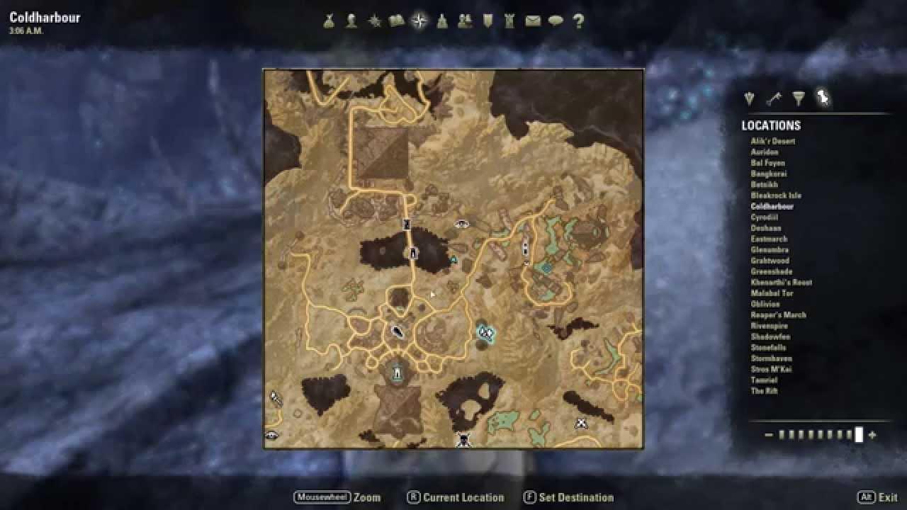 Coldharbour CE Treasure Map Elder Scrolls Online Wiki