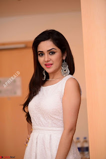 Ragini in Beautiful Cream Sleevelss Gown Perfect makeup ~  Exclusive 004.jpg