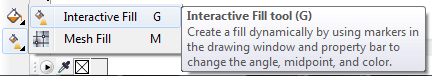 Mengenal bagian CorelDRAW - Interactive Fill Tool